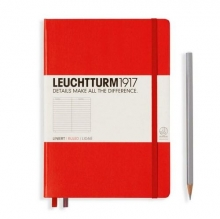 Leuchtturm1917 Notebook Medium A5 Hardcover Lined - Red