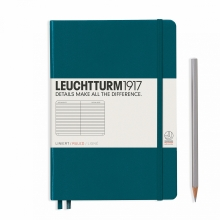 Notebook Medium (A5) Ruled Pacific Green