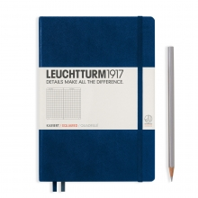 Notebook Medium (A5) Hardcover, Squared, Navy