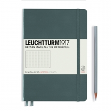 Notebook Medium (A5) dotted, anthracite