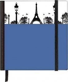 Silhouettes Paris Pocket Square Notebook